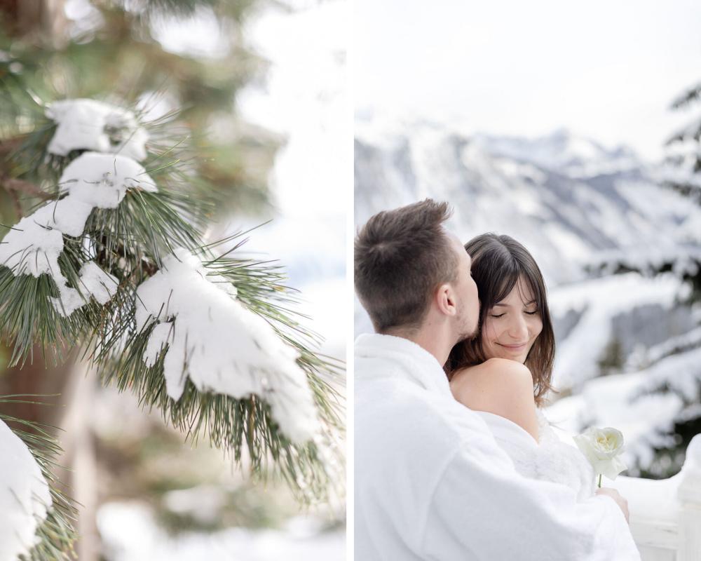 Mariage d'hiver à Courchevel